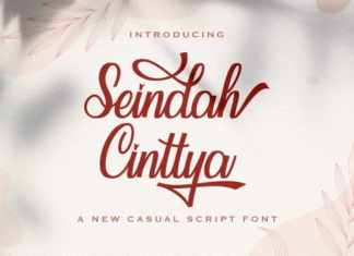 Seindah Cinttya Calligraphy Font