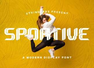 Sportive Display Font