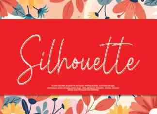 Silhouette Script Font