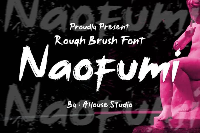 Noufumi Rough Brush Font