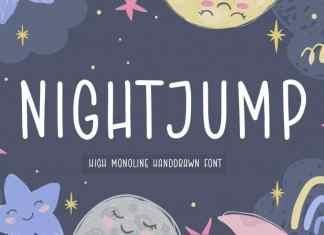 NIGHTJUMP Handdrawn Font