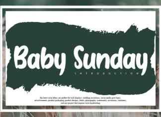 Baby Sunday Display Font