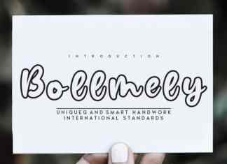 Bollmely Display Font