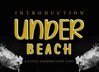 Under Beach Display Font
