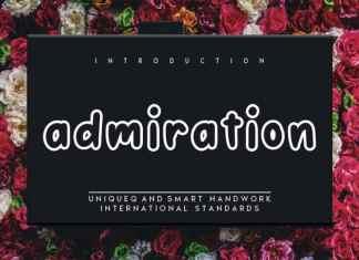 Admiration Display Font