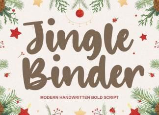 Jingle Binder Modern Handwritten Bold Font