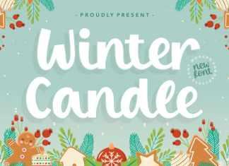 Winter Candle Modern Handbrushed Font