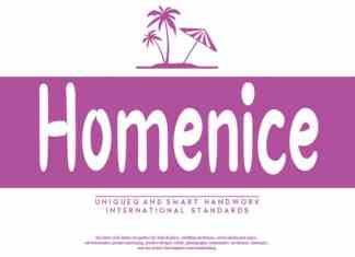Homenice Script Font