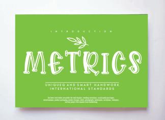 Metrics Display Font