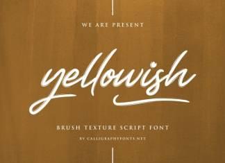 Yellowish Hand Brush Script Font