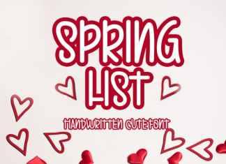 Spring List Display Font