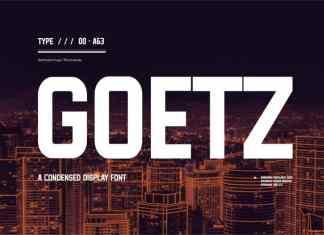 Goetz Display Font