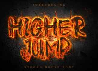 Higher Jump Brush Font