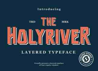 Holyriver Display Font