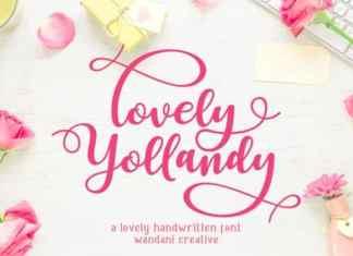 Lovely Yollandy Calligraphy Font