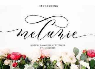 Melanie Calligraphy Font