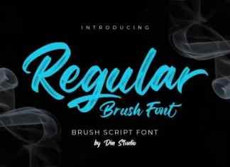 Regular Brush Font