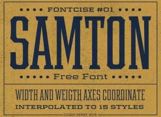 Samton Display Font