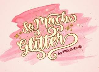 So Much Glitter Script Font