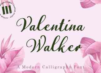 Valentina Walker Script Font