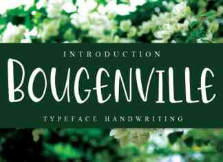 Bougenville Display Font