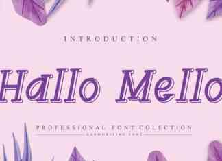 Hallo Mello Display Font