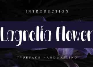 Lagnolia Flower Display Font