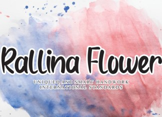 Rallina Flower Brush Font