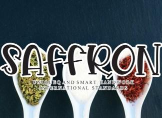 Saffron Display Font