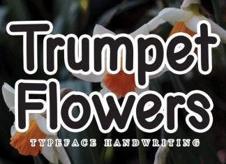 Trumpet Flowers Display Font