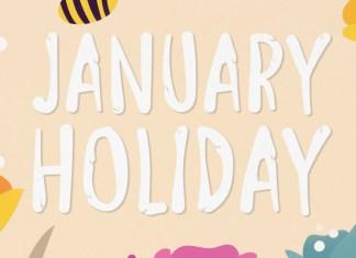 January Holiday Display Font