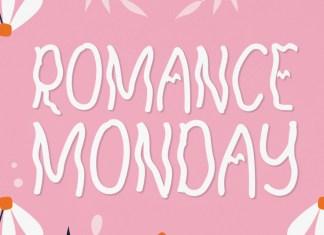 Romance Monday Display Font