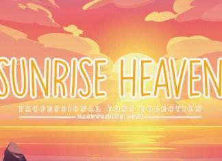 Sunrise Heaven Display Font