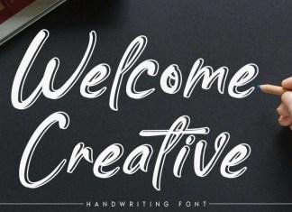 Welcome Creative Script Font