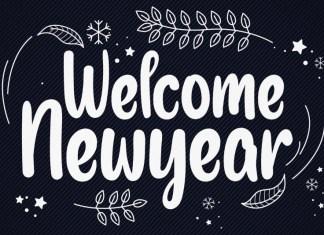 Welcome Newyear Script Font