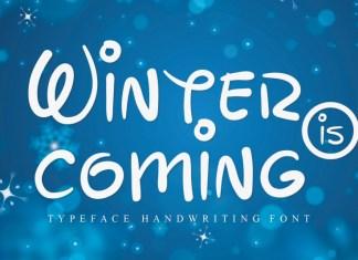 Winter is coming Script Font