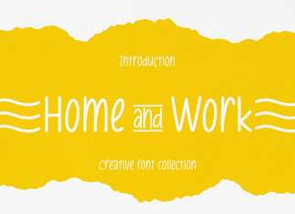 Home And Work Display Font