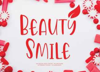 Beauty Smile Display Font