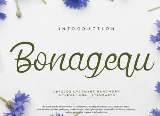 Bonagequ Script Font