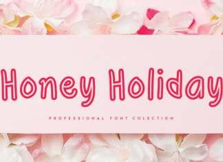 Honey Holiday Display Font