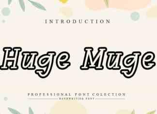 Huge Muge Handwritten Font
