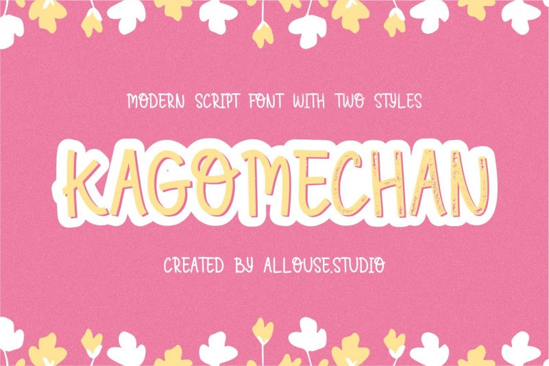 Kagomechan Two Style Font