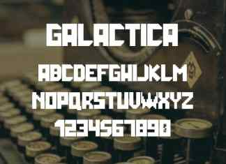 Galactica Space Grid Display Font