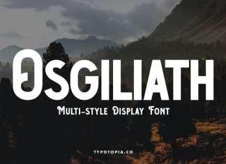 Osgiliath Multistyle Display Font