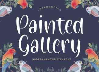Painted Gallery Handwritten Font