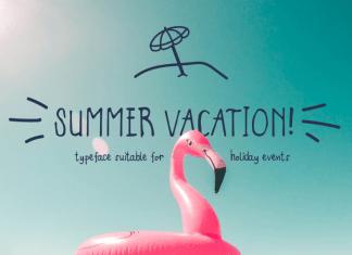 Summer Vacation Display Font