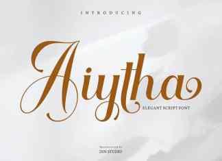 Aiytha Calligraphy Font