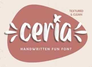 Ceria Script Font
