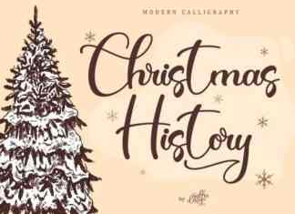 Christmas History Calligraphy Font