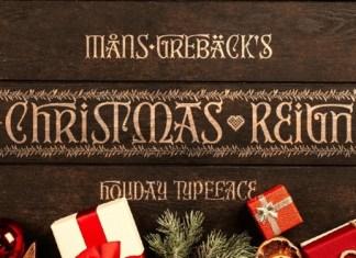 Christmas Reign Display Font